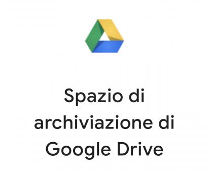 Spazio aggiuntivo Google Drive